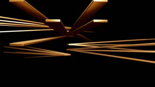 spinning gold beam