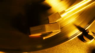 Spinning Gold Record Player