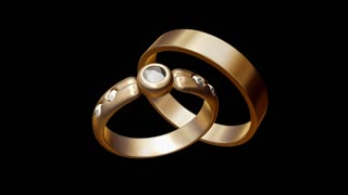 Spinning gold ring and jewel