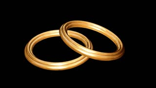Spinning gold ring