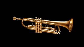 spinning gold trumpet