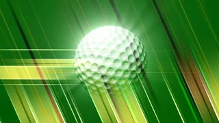 Spinning Golf Ball &Green Background