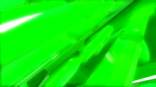Spinning Green Abstract Shape