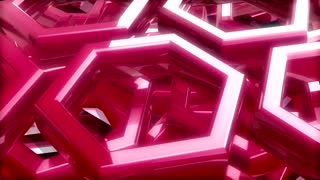 Spinning Pink Hexagonal