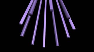 spinning purple beam