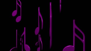 spinning purple notations