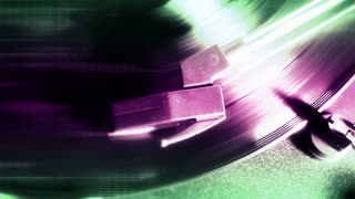 Spinning Purple Record Player