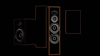 Spinning rectangular speakers