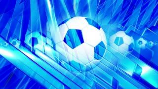 Spinning Soccer Ball & Blue Background
