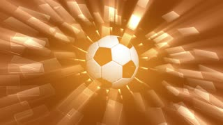 Spinning Soccer Ball & Yellow