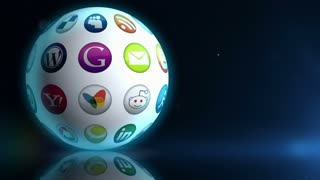 Spinning Social Media Sphere
