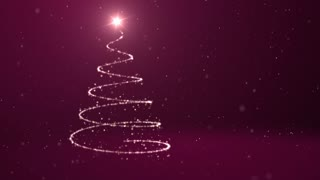 Spiral Christmas Tree Background