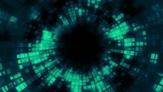 Spiraling Pixel Tunnel