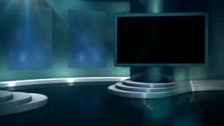 Sports Talk Show Set