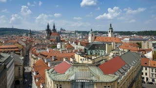 St. Nicholas Church and St. Vitus Cathedral, Prague, Czech Rep - T/lapse