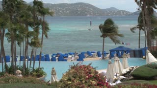 St. Thomas Resort Overlooking Sea with Palms 2