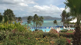 St. Thomas Resort Overlooking Sea with Palms 3