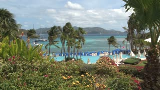 St. Thomas Resort Overlooking Sea with Palms 4