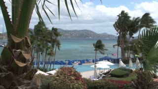 St. Thomas Resort Overlooking Sea with Palms