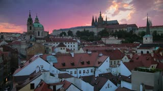 St Vitus cathedral and St Nicholas church, Prague, Czech Republic, Europe