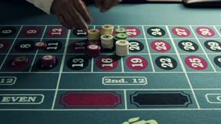 Stacking Chips onto a Roulette Table