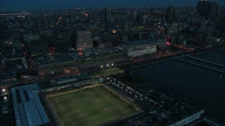 Stadium Aerial into Heavy NYC Traffic