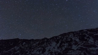 Stars over Mountains Motion Time Lapse
