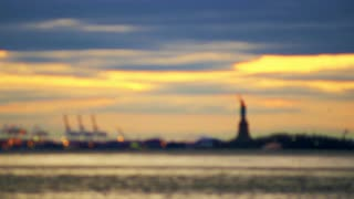 Statue of Liberty in Distance Rack Focus