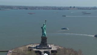 Statue of Liberty Passing By