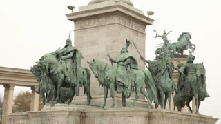 Statues Of Riders On Horseback