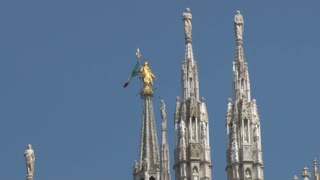 Statues on Top of the Duomo Milan