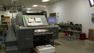 Steadicam Shot Around Printing Press