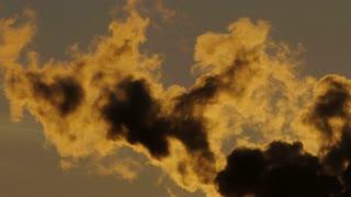steam smog. atmosphere climate. pollution smoke smog dirty