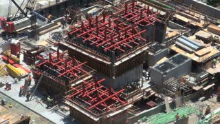 Steel Beam Construction Zone Aerial 2