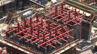 Steel Beam Construction Zone Aerial 3