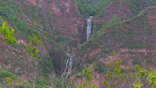 Still Shot of Waterfall in the Distance