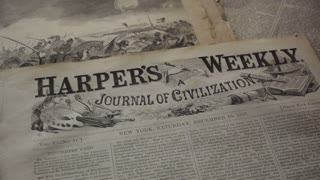 still shot on Harper's Weekly, Civil War era newspaper