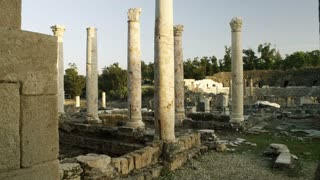 Stone Pillars At Ancient Ruins