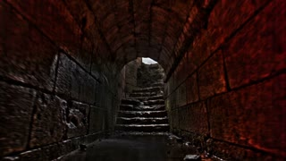 Stone Tunnel Leading to Stairs 3