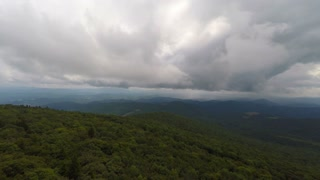 Storms in the Appalachian Mountains Aerial