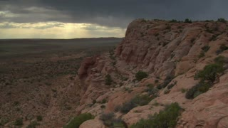 Stormy Timelapse Shot In Arches National Park