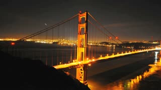 Streaking Lights Golden Gate Bridge Timelapse