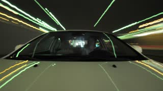 Streaking Timelapse Car Lights