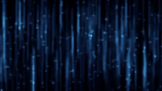 Streaks of blue icicle lights pulse on screen (Loop).