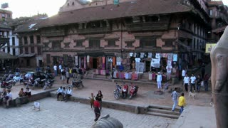 Street Traffic and Statues in Bhaktapur Square 2