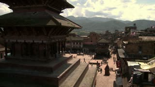 Street Traffic and Statues in Bhaktapur Square 4