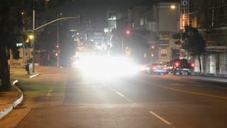 Streetside Night Cars Timelapse