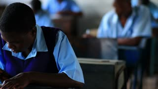 Student Doing Classwork in Kenya 2