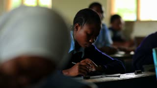 Student Doing Classwork in Kenya