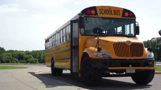 Students Exiting Bus to School